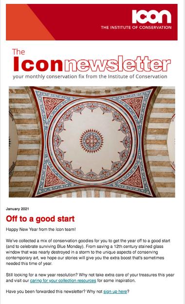 Cover of January newsletter