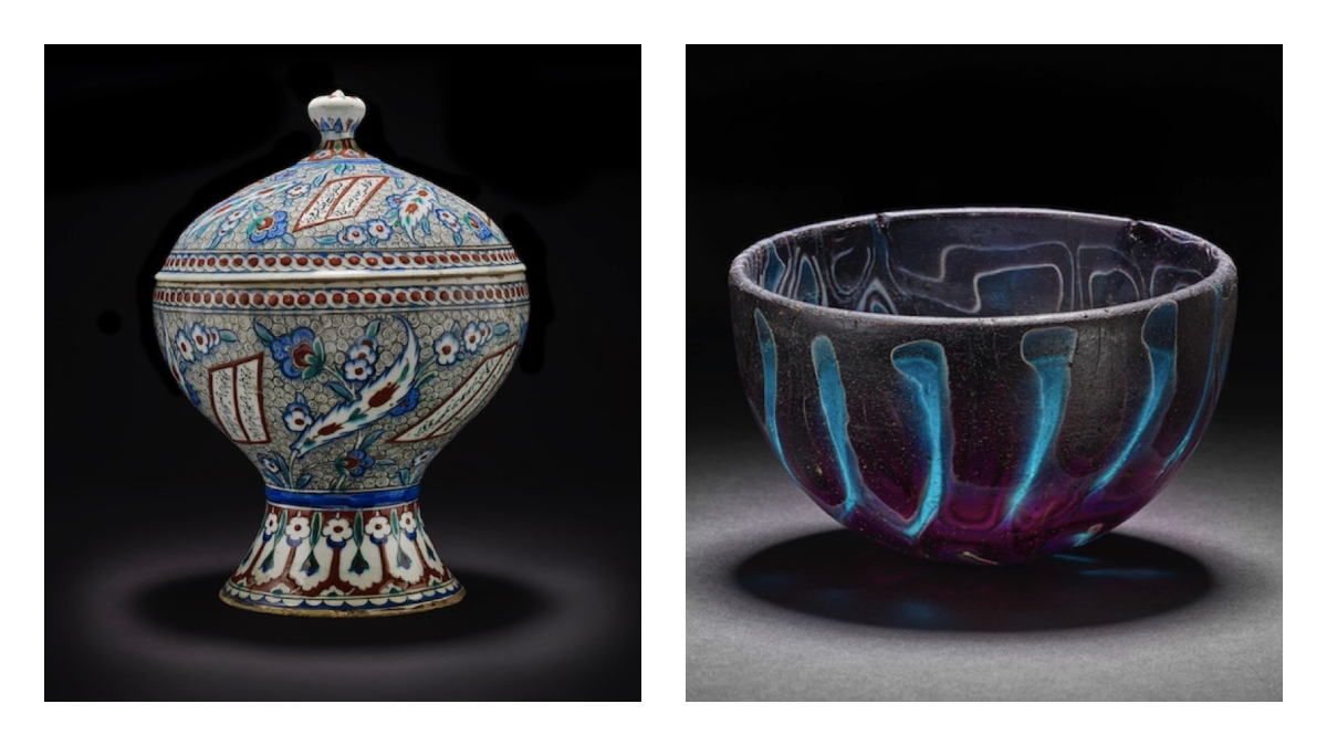 Ceramic and glass objects in the British Museum
